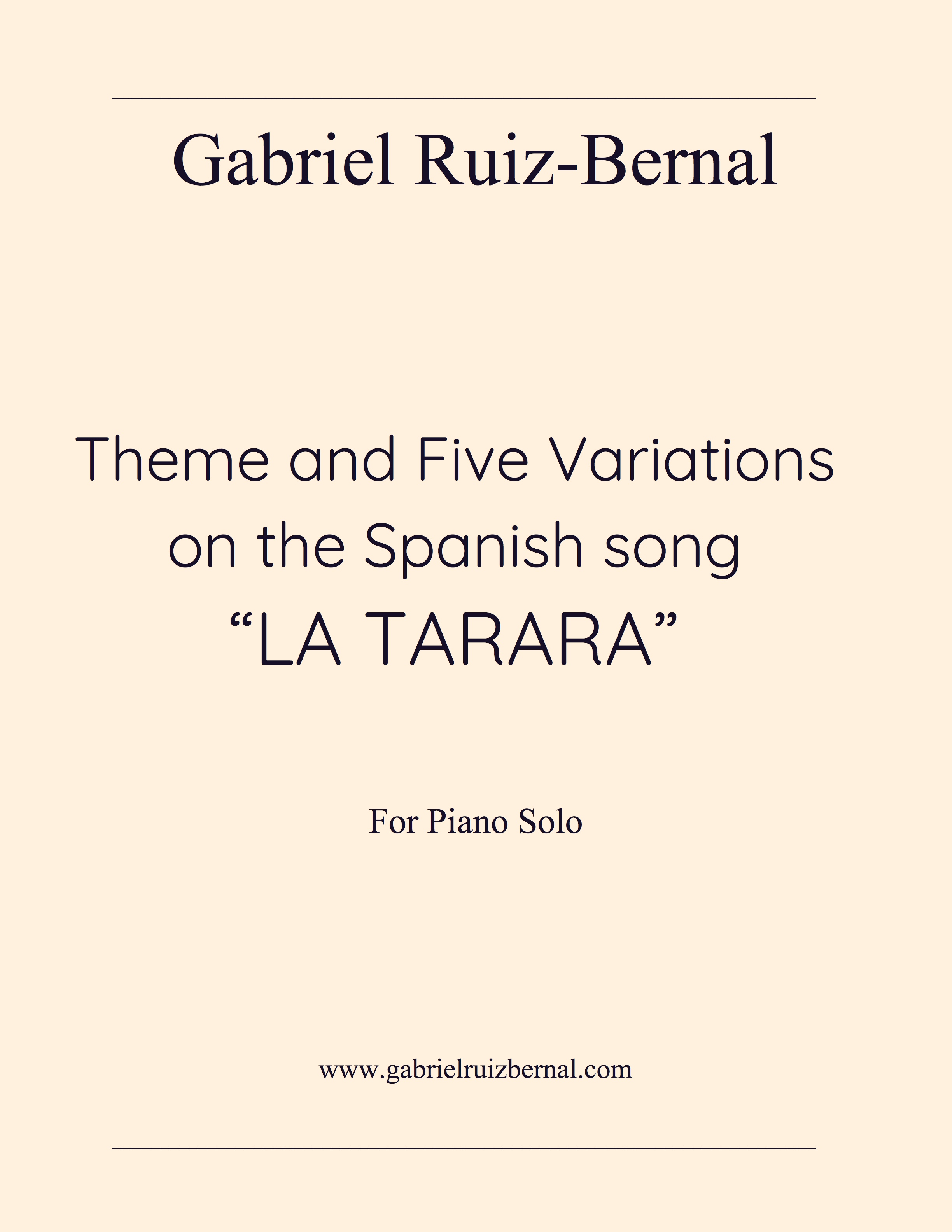 "7 Years Piano Pdf theme and five variations on the spanish song ""la tarara"" for solo piano.  pdf download."